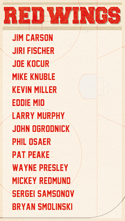 2017 Game Red Wings Roster